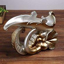 HY-WWK Creative European Wine Shelf Elephant Head