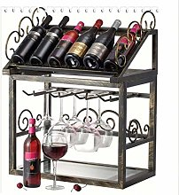 HY-WWK European Style Wrought Iron Wine Rack Wine