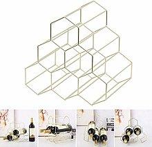 HY-WWK Honeycomb Wine Shelf Iron Storage Shelf