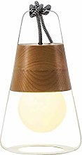 HY-WWK Simple Creative Dual Use Desk Lamp Wood