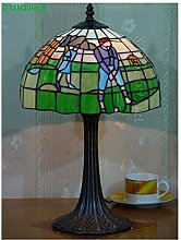 HY-WWK Stained Glass Desk Table Lamp ,8Inch