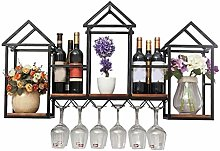 HY-WWK Wine Rack Iron Wine Rack Wall Hanging on