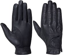 Hy5 Adults Leather Riding Gloves (XS) (Black)