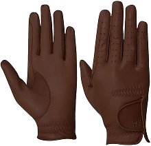 Hy5 Adults Leather Riding Gloves (XS) (Brown)