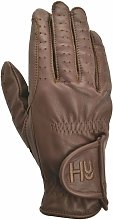 Hy5 Adults Synthetic Leather Riding Gloves (L)