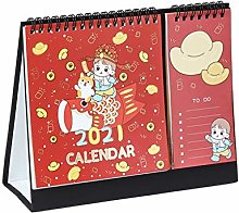 HYAN 2021 Desk Calendar with To-do List Label Cute
