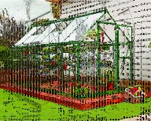 Hybrid 6x12 Greenhouse - Green - Palram