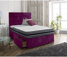 Hyde Upholstered Divan Bed and Headboard Rosdorf