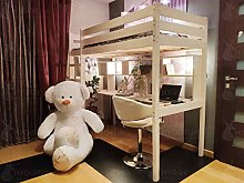 Hyggelia Bed Wooden Bunk bed with barriers + Desk
