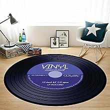 HYISHION 3D-Music carpet, Retro record carpet Slip