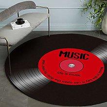 HYISHION 3D-Vinyl Record Carpet Record, Music Door