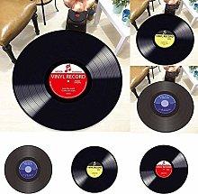 HYISHION 3D-Vinyl Record Carpet, Round Floor,