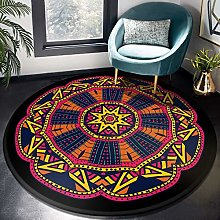 HYISHION Traditional Round Area Rugs Soft Living