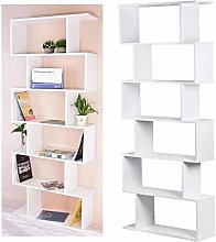 HYL0 6 Tier Bookcase Book Shelf Stand Tall Large