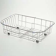 HYL0 Kitchen Drainer Metal Drain Basket, Stainless