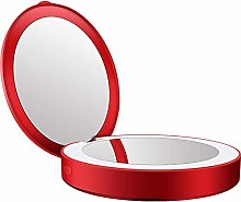 HYLL LED Lighted Travel Makeup Mirror, 3.5 inch