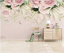 Hyllbb Watercolor Flower Wallpaper Nordic