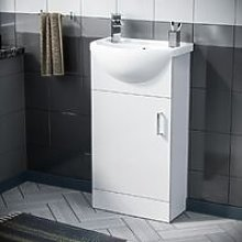 Hypar 410mm Cabinet White With Basin