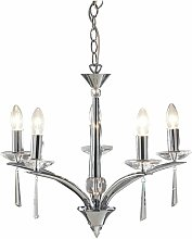 Hyperion pendant lamp polished chrome and crystal
