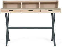 Hyppolite Writing desk by Hartô Oak,Slate grey