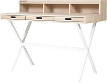 Hyppolite Writing desk by Hartô White/Natural wood
