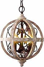 HYPPT Vintage Industrial Wooden Orb