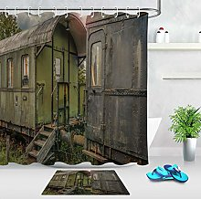 HYTCV Antique train Digital printing bathroom