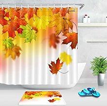 HYTCV Autumn landscape deciduous bathroom fabric