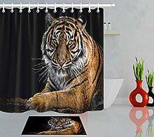 HYTCV Black background tiger Digital printing