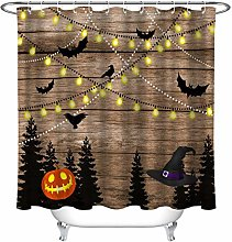 HYTCV Brown wooden wall for Halloween party