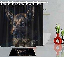 HYTCV Dog black background animal Digital printing