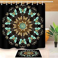 HYTCV Mandala butterfly Digital printing bathroom