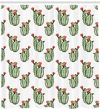 HYTCV Mexican shower curtain cactus plant desert