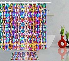 HYTCV Multicolored bokeh Digital printing bathroom