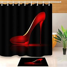 HYTCV Red ladies shoes Digital printing bathroom