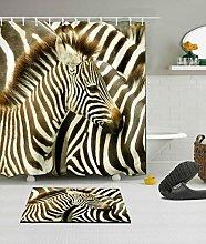 HYTCV Tropical zebra Digital printing bathroom