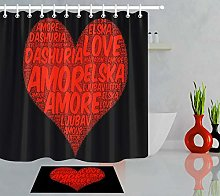 HYTCV Valentine's love heart black background