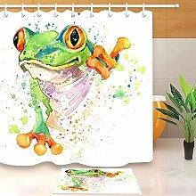 HYTCV Watercolor funny frog Digital printing