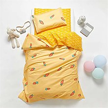 HyUkoa 100% Cotton Cot Toddler Duvet Cover Sets