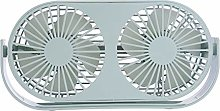 HYwot Small Bean Double Head Desktop Fan Creative