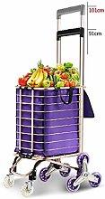 HYY-YY 8 Wheel Shopper Luggage Cart Hand Truck