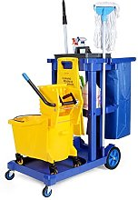 HYYK Portable Janitorial Cart Organizer with Big