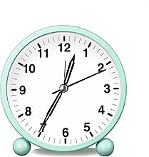 HZDHCLH Analogue alarm clock, no ticking, with