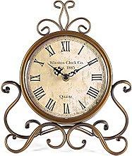 HZDHCLH Table Clocks 28 cm Height Silent Non