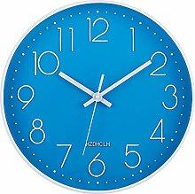 HZDHCLH Wall Clock 12 Inch Silent Non