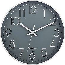 HZDHCLH wall clock 12 Inch Silent Non Ticking