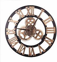 HZDHCLH Wall Clocks 18 Inch Silent Roman Retro