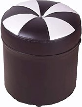 HZYDD chair Fashion Upholstered Ottoman Leather