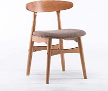 HZYDD Chair Solid Wooden Chair Backrest Simple
