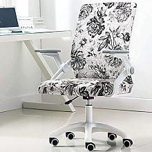 HZYDD Ergonomic Office Chair,Mid Back Swivel Desk